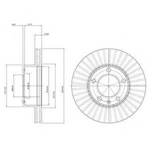 DELPHI BG9692 Тормозной диск
