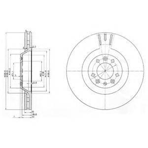 DELPHI BG9844 Тормозной диск