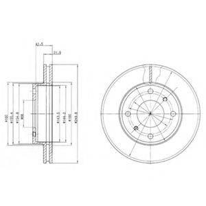 DELPHI BG2395 Тормозной диск
