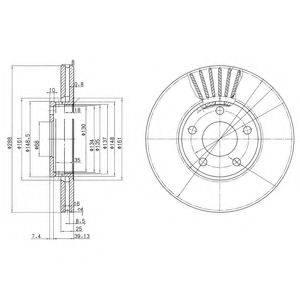 DELPHI BG2745C Тормозной диск