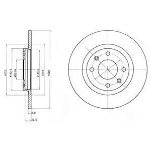 DELPHI BG2308 Тормозной диск