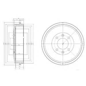 DELPHI BF169 Тормозной барабан