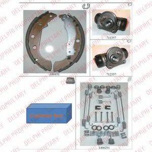 DELPHI 763 Комплект тормозных колодок