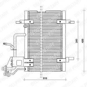 DELPHI TSP0225011 Конденсатор, кондиционер