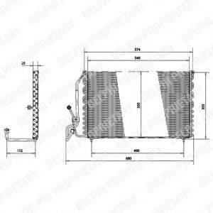 DELPHI TSP0225177 Конденсатор, кондиционер