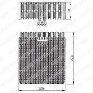 DELPHI TSP0525143 Испаритель, кондиционер