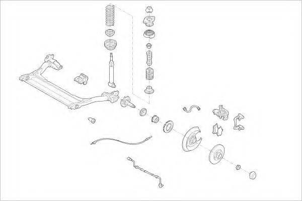DELPHI AUDI16705R Подвеска колеса