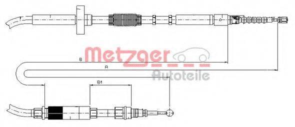 METZGER 107531 Трос, стояночная тормозная система