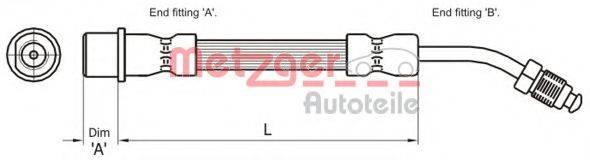 METZGER 4111108 Тормозной шланг