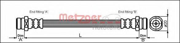 METZGER 4112258 Тормозной шланг