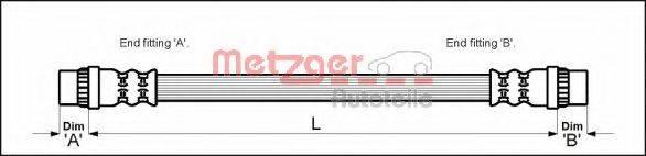 METZGER 4111164 Тормозной шланг