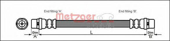 METZGER 4114774 Тормозной шланг