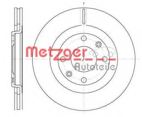 METZGER 624010 Тормозной диск