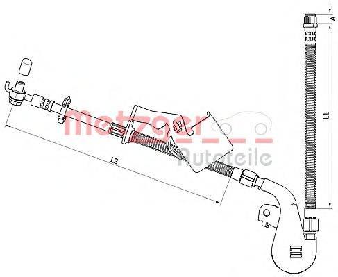 METZGER 4110808 Тормозной шланг