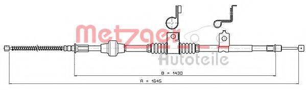 METZGER 172294 Трос, стояночная тормозная система