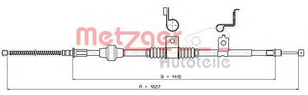 METZGER 172295 Трос, стояночная тормозная система