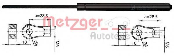METZGER 2110405 Газовая пружина, капот