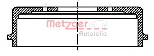 METZGER BT640 Тормозной барабан