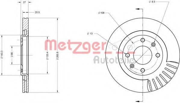 METZGER 6110067 Тормозной диск