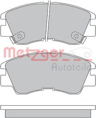 METZGER 1170600 Комплект тормозных колодок, дисковый тормоз