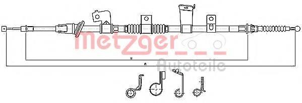 METZGER 172299 Трос, стояночная тормозная система