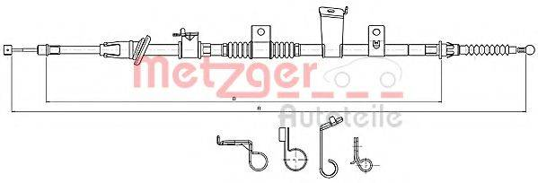 METZGER 172300 Трос, стояночная тормозная система