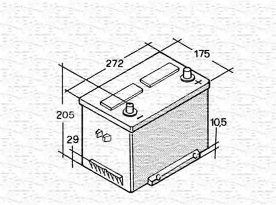 MAGNETI MARELLI 067148001002 Стартерная аккумуляторная батарея; Стартерная аккумуляторная батарея