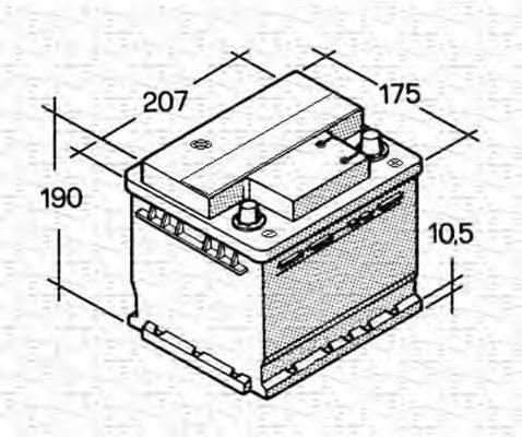 MAGNETI MARELLI 067143613003 Стартерная аккумуляторная батарея; Стартерная аккумуляторная батарея