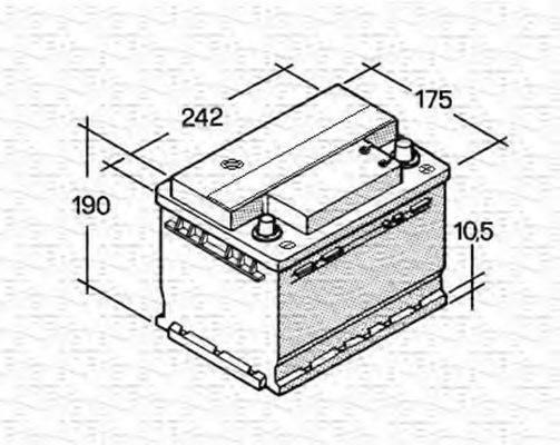 MAGNETI MARELLI 067143612003 Стартерная аккумуляторная батарея; Стартерная аккумуляторная батарея