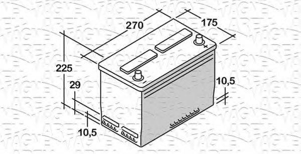 MAGNETI MARELLI 068070054010 Стартерная аккумуляторная батарея; Стартерная аккумуляторная батарея