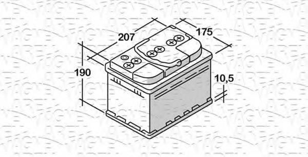 MAGNETI MARELLI 068050051010 Стартерная аккумуляторная батарея; Стартерная аккумуляторная батарея