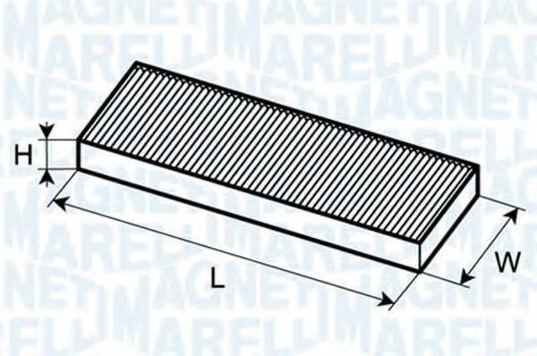 MAGNETI MARELLI 350203062370 Фильтр, воздух во внутренном пространстве