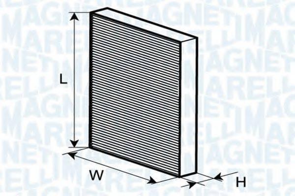 MAGNETI MARELLI 350203061060 Фильтр, воздух во внутренном пространстве
