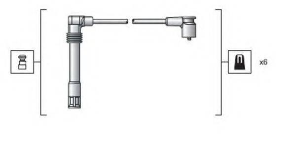 MAGNETI MARELLI 941318111162 Комплект проводов зажигания