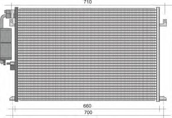 MAGNETI MARELLI 350203426000 Конденсатор, кондиционер
