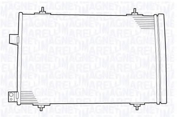 MAGNETI MARELLI 350203639000 Конденсатор, кондиционер