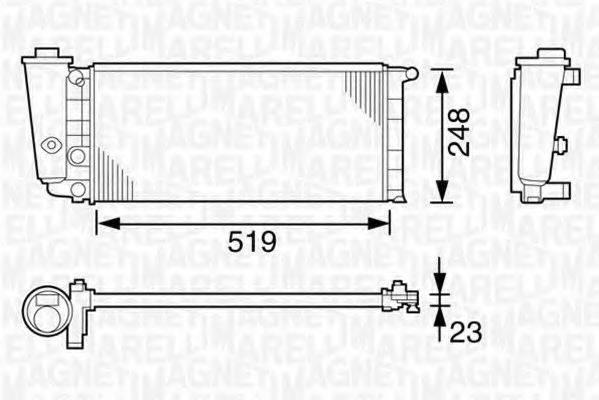MAGNETI MARELLI 350213101000 Радиатор, охлаждение двигателя