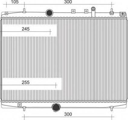 MAGNETI MARELLI 350213108200 Радиатор, охлаждение двигателя