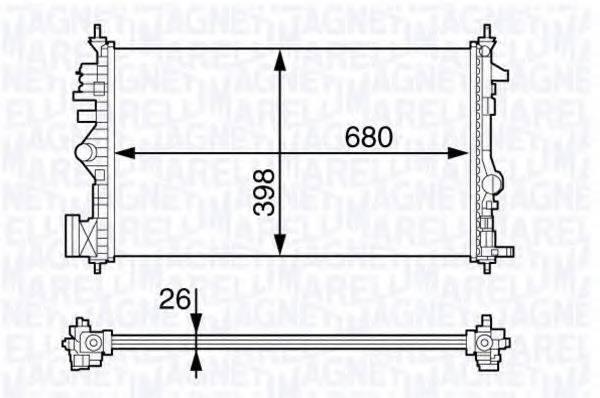 MAGNETI MARELLI 350213141300 Радиатор, охлаждение двигателя