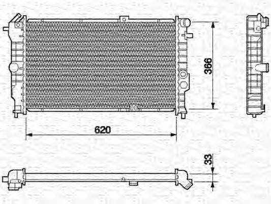 MAGNETI MARELLI 350213591000 Радиатор, охлаждение двигателя