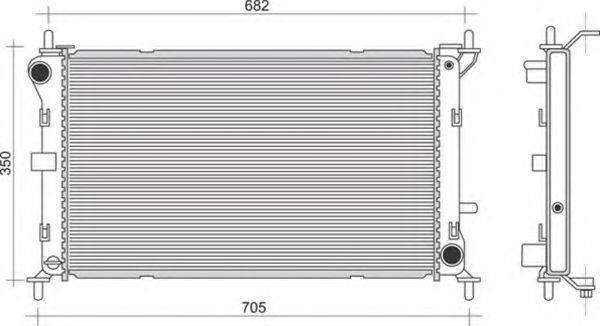 MAGNETI MARELLI 350213910000 Радиатор, охлаждение двигателя