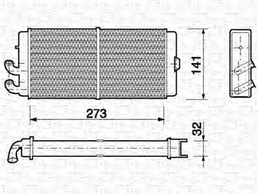 MAGNETI MARELLI 350218150000 Теплообменник, отопление салона