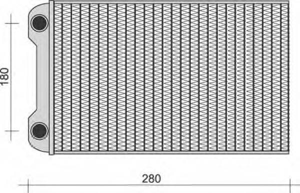 MAGNETI MARELLI 350218280000 Теплообменник, отопление салона