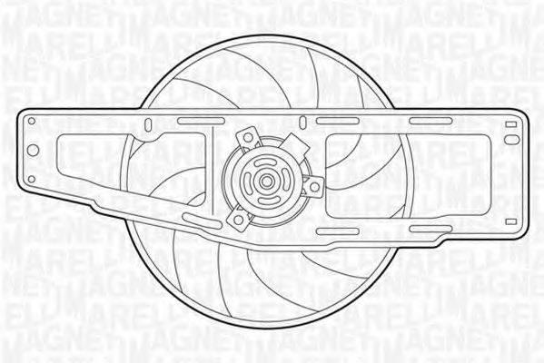 MAGNETI MARELLI 069422346010 Вентилятор, охлаждение двигателя