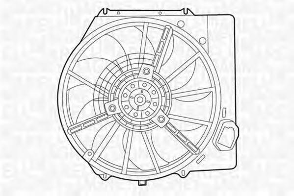 MAGNETI MARELLI 069422437010 Вентилятор, охлаждение двигателя