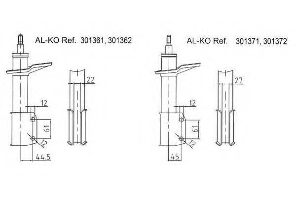 AL-KO 301371 Амортизатор